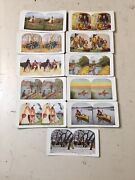 Antique Stereoview Cards Sportsmans Series Sioux Trout Duck Hunt Hanging Lynchin