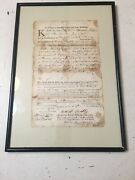 Antique Revolutionary War Era Land Deed Huntly Huntley Family Lyme Connecticut