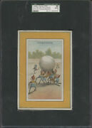 1880's H804-2b Trade Card Brownies Large Putting On The Curve Sgc 30 Good 2