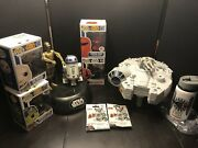 Star Wars C3po And R2d2 Talking Coin Bank Plus Funko/hasbro/bottle/tags