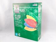 Home Accents Multi Color 25 Led Super Bright C9 Christmas Lights 6 Boxes