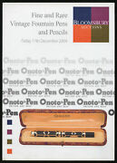 Fine And Rare Vintage Fountain Pens And Pencils Bloomsbury Auctions Friday 1st