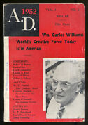 Dorothy Tooker / Editors Meet William Carlos Williams Appearing In A.d 1952 1st