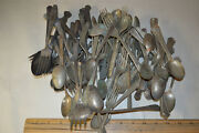 Lot Of 77 Pieces Silverware Flatware Silverplate Spoons Forks Rogers 854