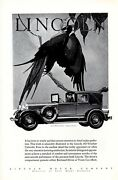 Vintage Print Auto Car Ad Lincoln All Weather Cabriolet Book Of The Month C1930s