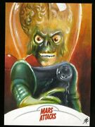 2013 Topps Mars Attacks Invasion Sketch Card By Tim Proctor A