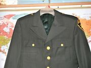 Usma West Point Class A Dress Green Officers Intructor Coat Size 40 Rng Tab