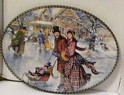 Victorian Christmas Family Skate Flue Wall Hanging Pond Victorian Home