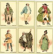 Set 10 Characters From Dickens By Kyd John Player And Son Cigarette Cards Ref M649