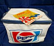 Vintage Vinyl Pepsi 6 Pack Carrier Prepac Picnic Lunch Bag Insulated Cooler Tags