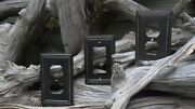 Bronze Beaded Electrical Outlet Plates And Rocker Light Switch Cover Lot Of Three