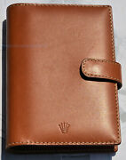 Rolex Diary 2006 And Address Book Brown Leather Original New Small From Viaggio