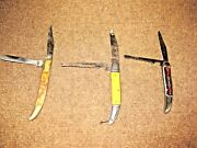 3 Vintage Pocket Knives Sabre, Colonial, And Frost
