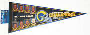 1999 St. Louis Rams Super Bowl Xxxiv 2000 Players Full Size 28 Nfl Pennant Nwt