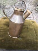 Vintage 1/2 Gal. Milk Cream Can Copper Jug Tin Lined