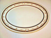 Lenox Oxford Bone China Palace Court Small Oval Platter 13.5 X 10 In.