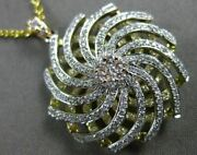 Estate 1.13ct Diamond 18k White Yellow And Rose Gold Open Flower Wave Love Pendant