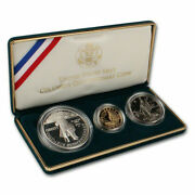 Rare United States Mint Columbus Quincentenary Coins 1992 Three Coin Proof Set