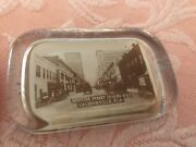 Antique 19th Century Jacksonville Florida Glass Photo Paper Weight