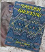 New And Oop Grace Knott English Smocking Heirloom Sewing 2 Book Lot Oop