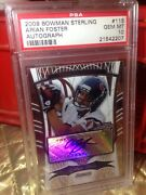 2009 Bowman Sterling 115 Arian Foster Rc Auto 352/599 Psa 10 Population/21