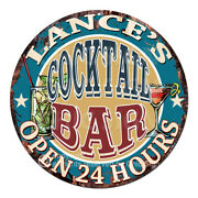 Cpco-0245 Lanceand039s Cocktail Bar Chic Sign Valentine Fatherand039s Day Christmas Gift