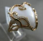 Estate Large .36ct Diamond And Agate 14kt Rose Gold 3d Heart Filigree Love Ring