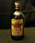 Vintage Style Pennzoil Outboard Motor Oil Amber Glass Bottle.artist Handcrafted