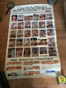 Rare 1988 Crown Baltimore Orioles Poster And Schedule