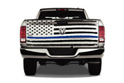 American Flag Blue Line Matter Tailgate Distressed Truck Vinyl Decal Graphic
