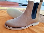 Handmade Menand039s Chelsea Crape Soles Jumper Ankle Casual Boots