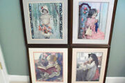 Danbury Mint Jessie Willcox Smith Embroidered Pictures Retired - Set Of 4