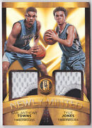2015-16 Gold Standard Newly Minted Patch Rc Karl-anthony Towns Tyus Jones /25