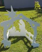 Manger Scene, Outdoor, Exterior Plywood, Large