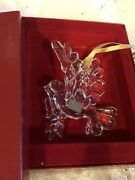 Mikasa Holiday Collections Crystal Peace Dove Christmas Tree Glass Ornament