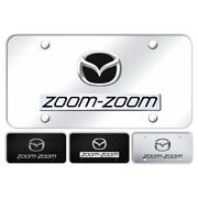 Zoom-zoom Name And Logo Stainless Steel License Plate