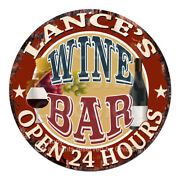 Cpwb-0245 Lanceand039s Wine Bar Sign Valentine Fatherand039s Day Birthday Gift For Man