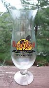 Hard Rock Cafe New Orleans Hurricane Beer Cocktail Tall Glass Free Shipping