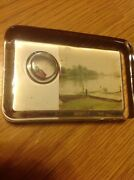 Antique 1930and039s Boat And Dock Faceted Paperweight Glass With Rare Dice Insert