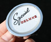 1946 1947 1948 1949 Plymouth Special Deluxe Round Plastic Insert Emblem Oem