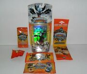 Skylanders Giants Hex Lights Up And Topps Trading Cards Dog Tags Stickers Lot