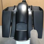 6stretched Saddlebags And Rear Fender For Harley Davidson Touring Bikes 14-20
