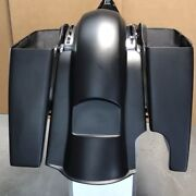 6 Extended Stretch Bags And Rear Fender For Touring Models 14-18 Single Exhaust