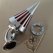 Chrome Spike Cone Air Cleaner Intake Filter For Harley Sands Cv Sportster All Year