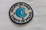 110 Full Size Cloth Police Badge Pacific Islands Chiefs Of Police