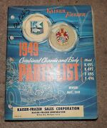 Original 1949 Kaiser Fraser Combined Chassis And Body Parts List K491k492f495