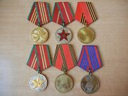 Soviet Russian Mvd Medals Ussr Impeccable Service 50 Years Militia Police Moop