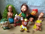 Rare Vintage Old Doll Rubber And Plastic Toy Set 9