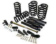 1965-72 Chevy C10 Truck Lowering Kit Deluxe 3 Front 4 Rear