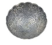 Antique Silver Peacock Crafted Design Silver Dish/bowl Halloween Decor G10-59 Us